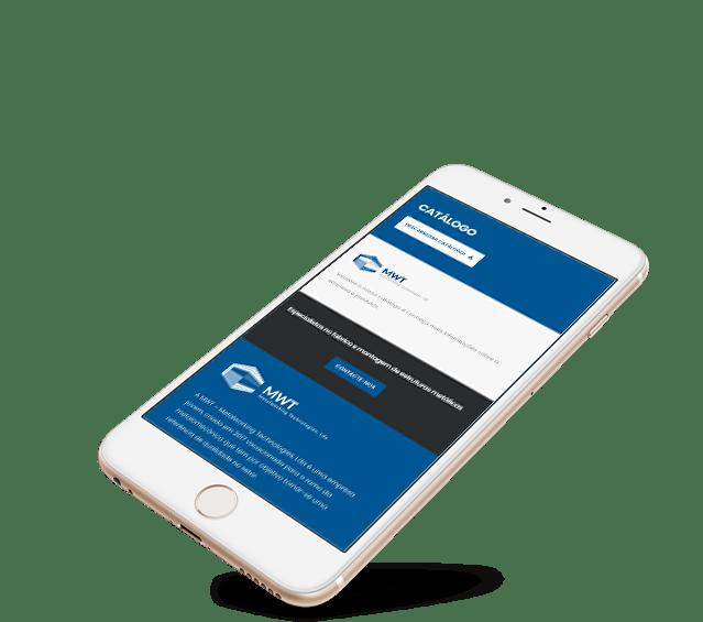 Portefólio Website MWT by Buzina - iphone smartphone