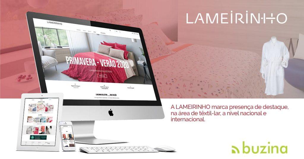Portefólio Loja Online Integrada com ERP Lameirinho by Buzina - facebook